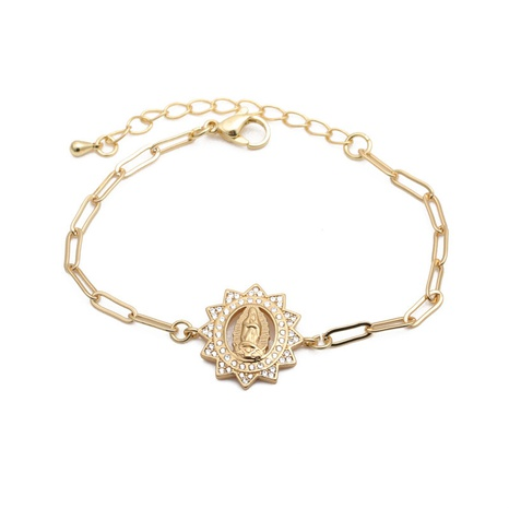 Hip hop micro-inlaid zircon adjustable bracelet  NHYL311123's discount tags