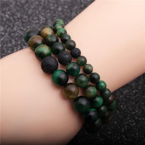 retro volcanic stone bracelet  NHYL311145's discount tags