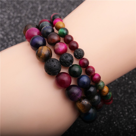 Fashion mixed color volcanic stone bracelet  NHYL311144's discount tags