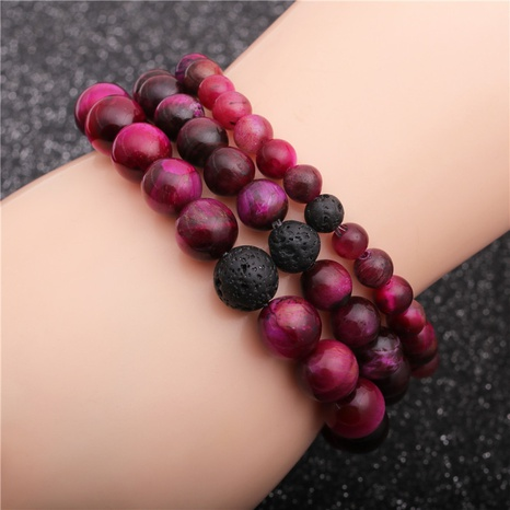 volcanic stone rose red bracelet  NHYL311146's discount tags