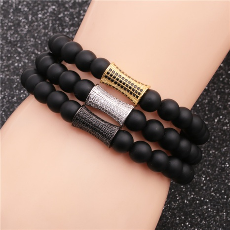 retro black stone bracelet  NHYL311194's discount tags