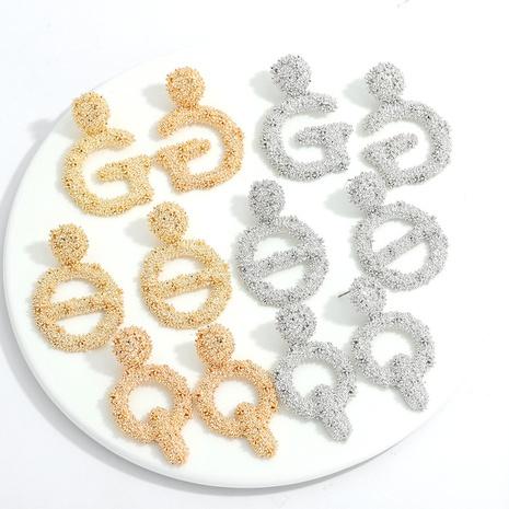 kreative geometrische Ohrringe aus Retro-Alphabet-Legierung NHJQ311233's discount tags