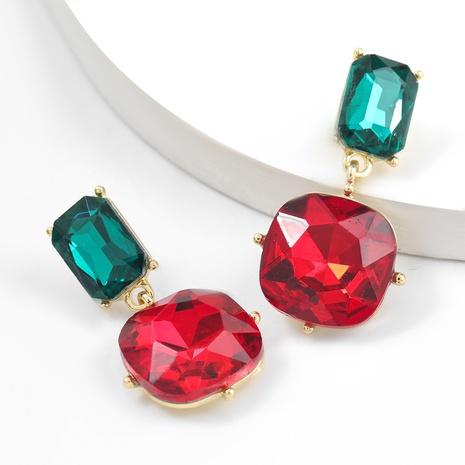 simple alloy diamonds geometric earrings NHJE311259's discount tags