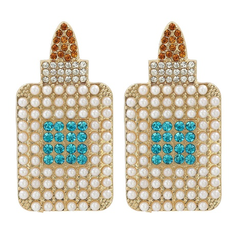 new creative fashion pearl inlaid alloy earrings NHJJ311272's discount tags