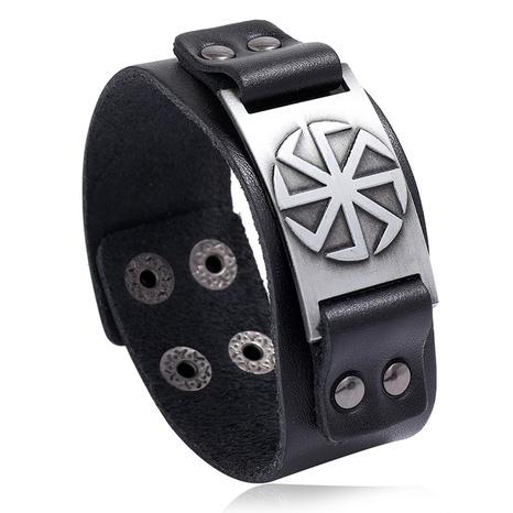 retro simple punk leather bracelet  NHPK311312's discount tags