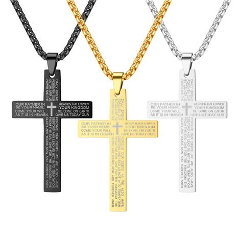 nuevo collar cruzado de moda de acero inoxidable NHTP311320's discount tags