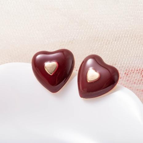 new love retro alloy earrings NHQS311325's discount tags