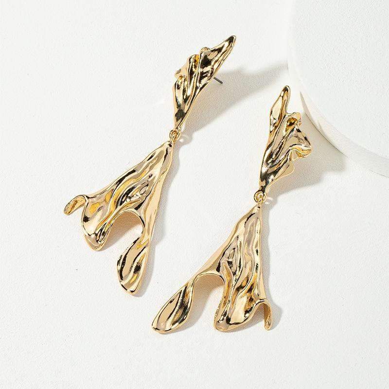 Korean fashion metal earrings NHQJ311329