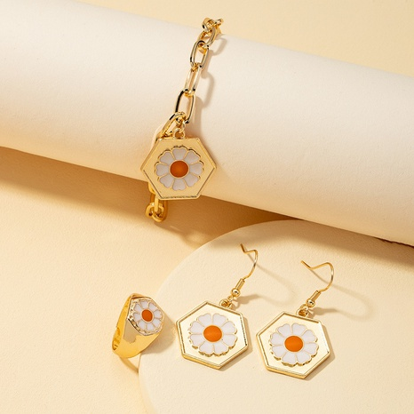 simple daisy fashion earrings  NHQJ311341's discount tags
