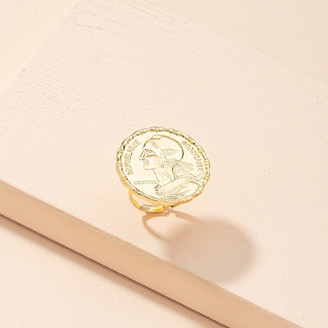Korean simple retro fashion portrait ring  NHAI311354's discount tags