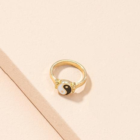 Korean simple fashion Chinese style Tai Chi Yin Yang ring NHAI311356's discount tags
