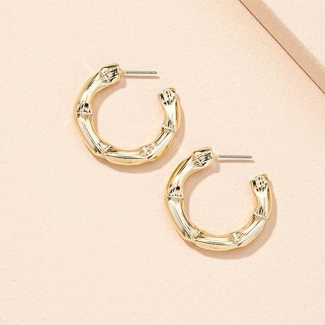 nouvelles boucles d'oreilles cercle géométrique rétro NHAI311358's discount tags