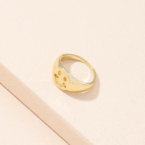 Korean simple retro fashion cute smiley ring NHAI311361's discount tags