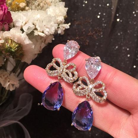 Hollow Petal Woven Flower earrings NHWK311382's discount tags