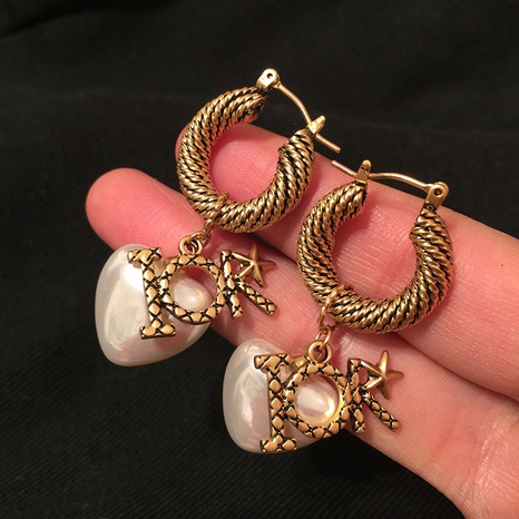 retro exaggerated creative circle earrings NHWK311389's discount tags