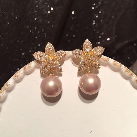 Boucles d'oreilles perles pétales NHWK311394's discount tags