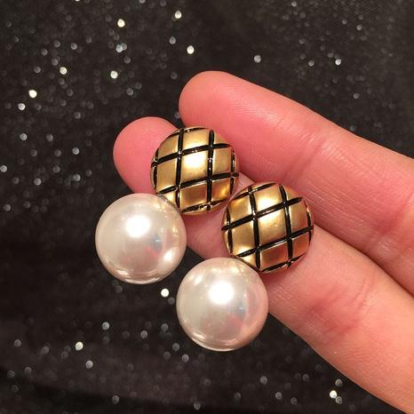 Boucles d'oreilles perles en forme de diamant NHWK311396's discount tags