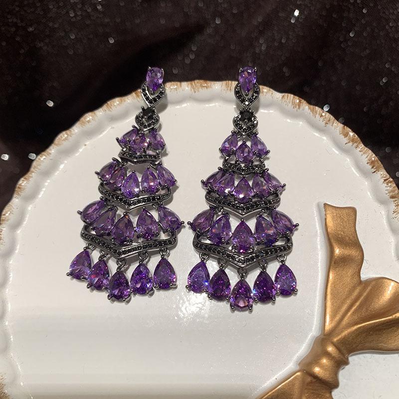 Fanshaped skirt earrings NHWK311406