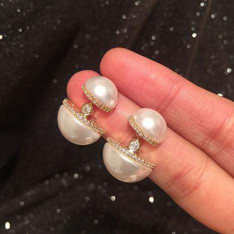 nouvelles boucles d'oreilles en perles de cuivre NHWK311411's discount tags