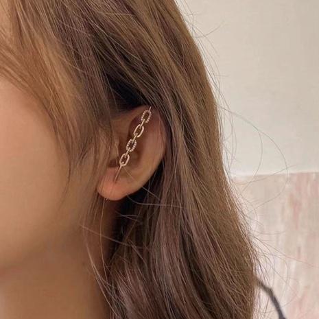 Boucles d'oreilles simples chaîne en métal NHWK311415's discount tags