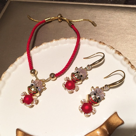 fashion new cute Red Calf earrings NHWK311417's discount tags