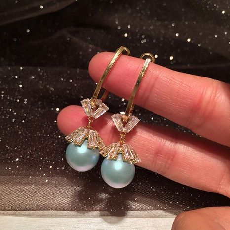 simple new frosted Pearl Earrings  NHWK311424's discount tags