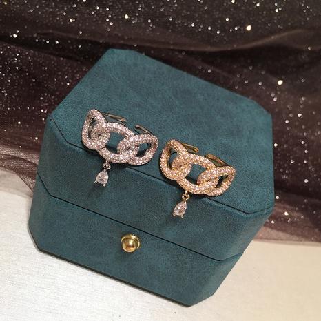 Water drop chain earrings NHWK311426's discount tags