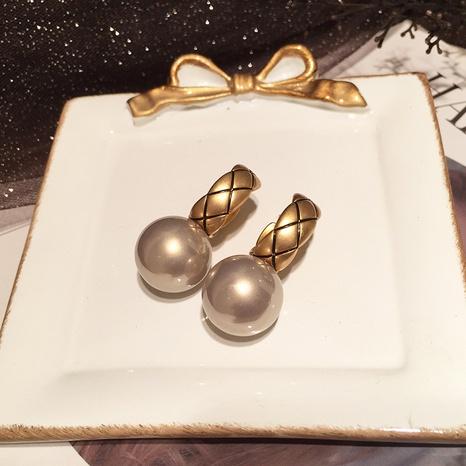 Retro Gitter Diamantohrringe NHWK311430's discount tags