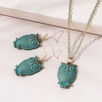 Traje de pendientes de collar de búho salvaje popular creativo coreano NHPS311447