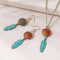 Conjunto de pendientes de collar exagerado salvaje estilo étnico creativo coreano NHPS311448