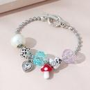 fashion trendy peach heart small mushroom bracelet NHPS311451