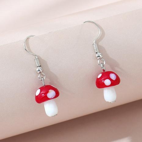 Korean creative fashion small mushroom earrings NHPS311452's discount tags