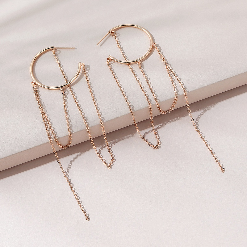 simple wild fashion big long tassel earrings NHPS311453