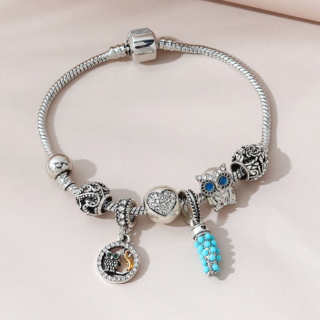 Korean wild owl bracelet NHPS311461's discount tags