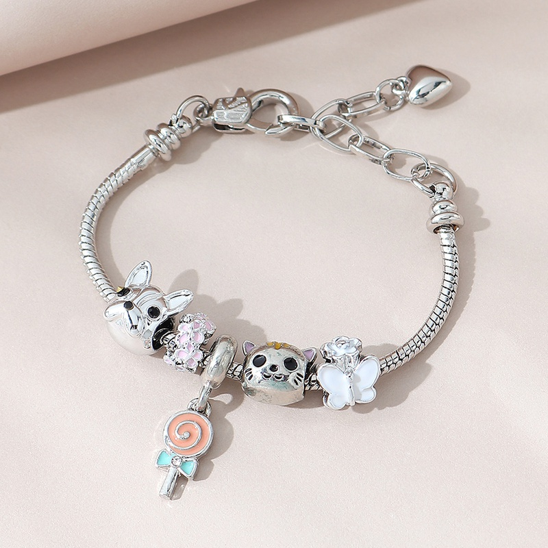Korean fashion creative painting oil lollipop bracelet NHPS311467