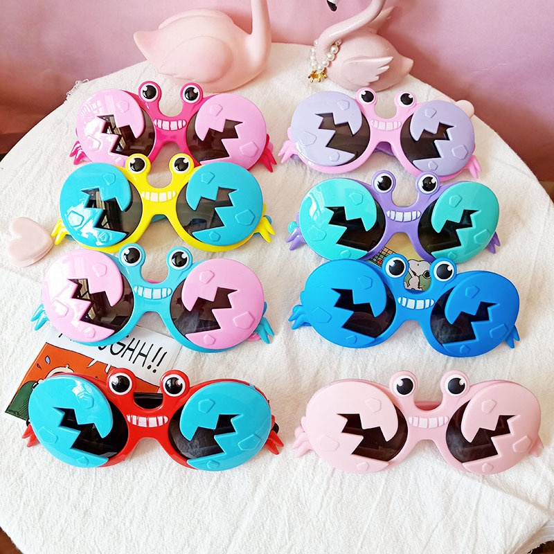 Crab shape silicone polarized fashion sunglasses NHBA311470