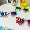 simple heartshaped transparent color love sunglasses NHBA311480