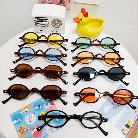 Nouvelles lunettes à monture ronde en métal NHBA311501's discount tags