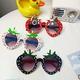 Korean childrens cartoon strawberry sunglasses NHBA311502