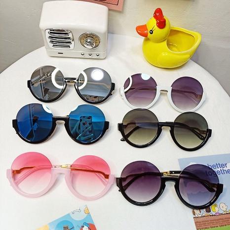 neue Kindermode Kreis Halbrahmen Sonnenbrille NHBA311507's discount tags