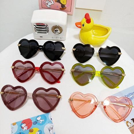 Lunettes de soleil confortables à monture coeur pêche polarisées pour enfants NHBA311512's discount tags