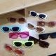 Korean retro frame sunglasses  NHBA311523