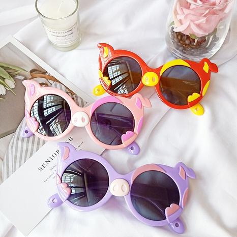 neue Mode Cartoon Schweinchen Sonnenbrille NHBA311528's discount tags