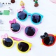 Cartoon cute bowknot silicone frame childrens sunglasses NHBA311529
