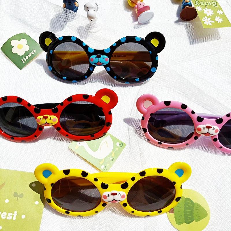 Cartoon Leopard Silicone Polarized Children Sunglasses NHBA311534