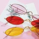 new simple oval small frame sunglasses NHBA311545