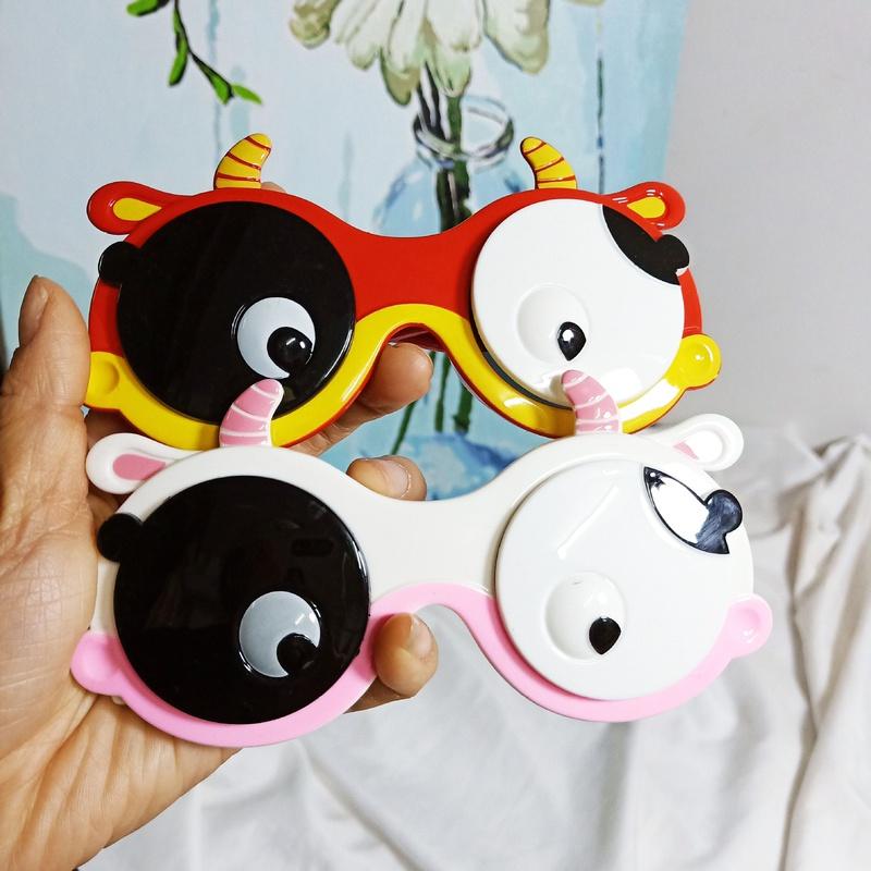 Gafas de sol con forma de vaca polarizadas con tapa de dibujos animados para nios NHBA311549