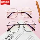 Korean trendy retro gold silk polygon octagonal glasses NHBA311551