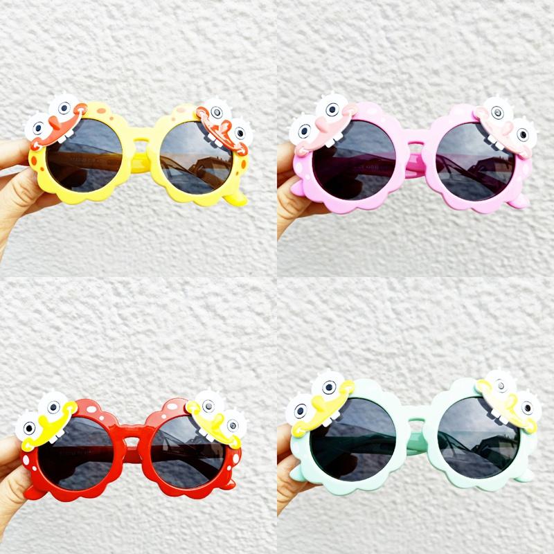 cute round frame childrens silicone sunglasses NHBA311559