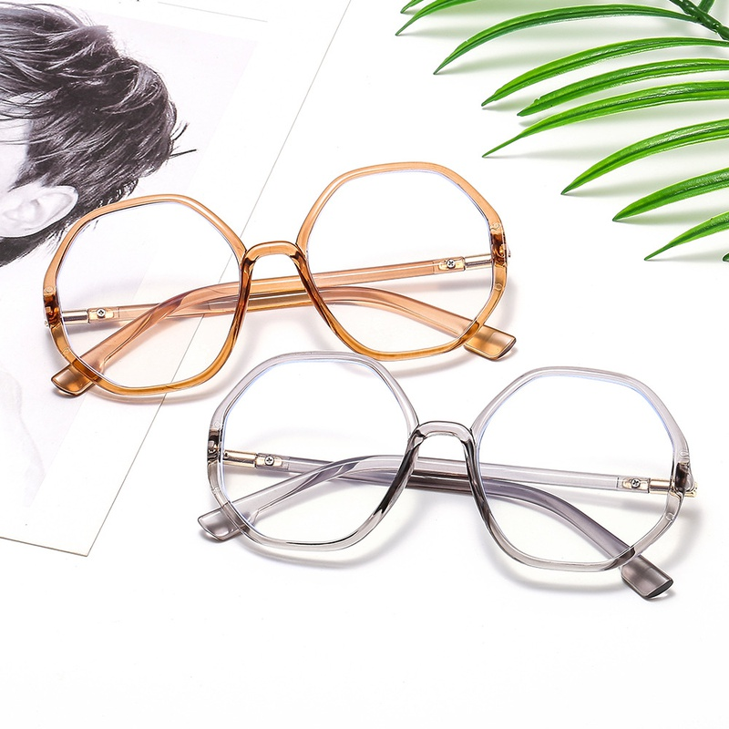 new polygonal flat mirror antiblue light glasses NHBA311580